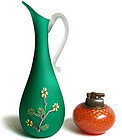 FRATELLI TOSO Murano SATIN Glass MILLEFIORI Flower Ewer