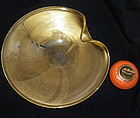 ARCHIMEDE SEGUSO Murano GOLD FLECKS Centerpiece Bowl