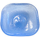 VENINI SCARPA Murano ICE BLUE Pulegoso Ring Dish Signed