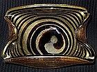 RARE Murano BAROVIER Toso GOLD FLECKS Swirl Bowl