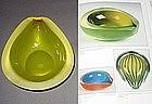 RARE Murano FRATELLI TOSO Yellow IRIDESCENT GEODE Bowl