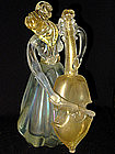 RARE Murano SEGUSO IRIDESCENT Gold Flecks Bass Woman