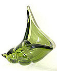 Murano BARBINI 50s FOREST GREEN Sea Shell Ashtray