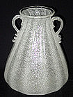 Large Murano AVEM Pauly White PULEGOSO 2 Handle Vase