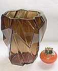 "HUGE RUBA ROMBIC Consolidated 1920s TOPAZ 9 1/2"" Vase!"