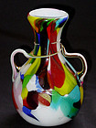 Venetian TOSO TWISTED Handles on Neck Vase