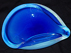 Murano SEGUSO COBALT Blue Opalescent Bowl