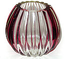 Murano FRATELLI TOSO Amethyst Stripes Ribbed Vase