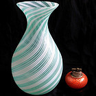 Murano MARTENS Aureliano TOSO Blue Filigrana Vase