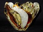 RARE Murano BAROVIER Amber Gold Flecks Pulegoso VASE