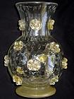 RARE Murano ERCOLE BAROVIER Gold Flower A STELLE Vase
