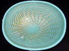 Murano ALFREDO BARBINI Large Blue GOLD FLECKS Bowl
