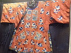 Red ground antique Chinese Lady's Robe