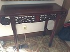 Chinese Rosewood Alter  table  birds and flower motif