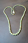 Vintage Chinese Jade bead necklace nature color