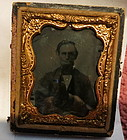Rare President Lincoln Tin type photo