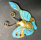 Chinese Kingfisher feather ornament