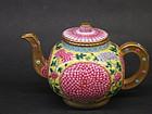 Chinese porcelain  Tea pot with lotus design