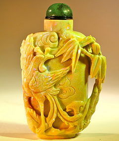 Antique Chinese Opal snuff bottle