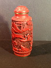 Cinnarbar lacquer like red snuff bottle