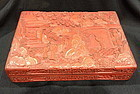 Antique Chinese cinnabar box