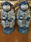 Blue and white porcelain monkeys