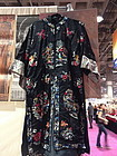 Vintage Chinese embrodered silk robe