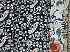 Chinese export embroidered silk fabric
