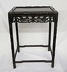 Chinese carved rosewood tea table