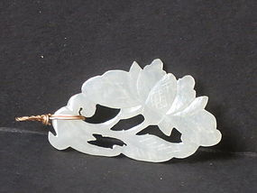 white jade carved pendant