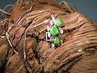 Jadeite diamond pendant necklace with white gold chain