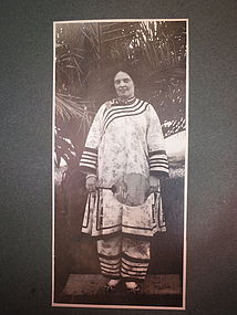 Rare mission photo of a lady in Chinese Robe
