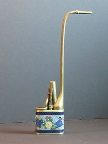 Chinese cloisonne enameled water pipe