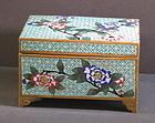 Antique Chinese cloisonne enamel copper box