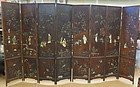 Chinese eight panel coromandel screen