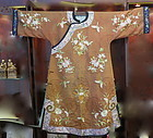 Chinese antique silk brocade embroidered lady robe