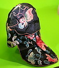Chinese antique silk  embroidered baby girl's hat