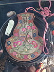 Antique Chinese silk embroidery sachet purse