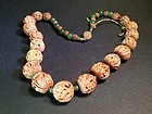 Chinese antique carved seed necklace