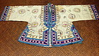 Antique Chinese silk embroidered lady's jacket
