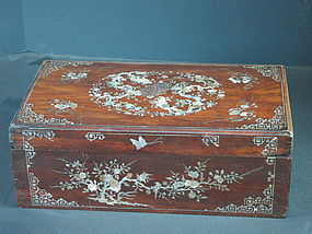Chinese antique mother of pearl inlay box