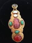 Mandarin robe latch hook tourmaline opal jadeite