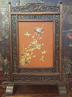Antique Japanese table screen chrysanthemum design