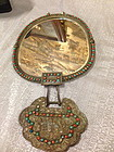 Antique Chinese jeweled lock mirror