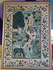 large Beautiful Eastern painting on silk