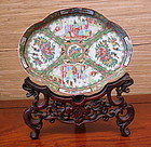 famille rose enameled  porcelain royal Canton tray