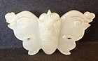 Antique Chinese white jade nephrite butterfly