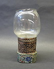 Antique Chinese cloisonne opium lamp