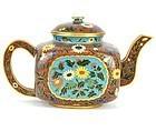 Chinese Cloisonné enameled teapot