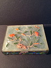 Chinese export jade enamel box